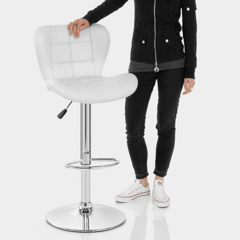 Houston Bar Stool White Features Image