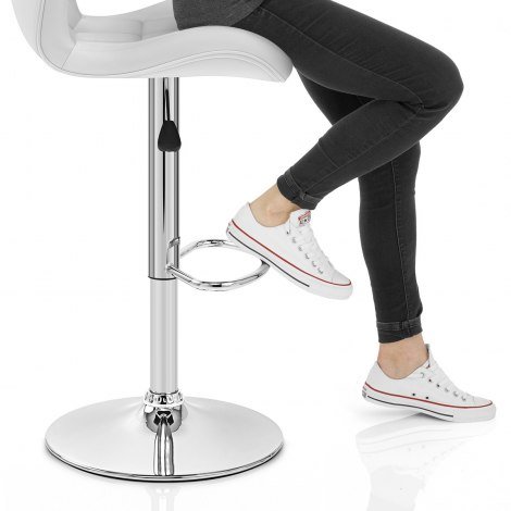 Houston Bar Stool White Seat Image
