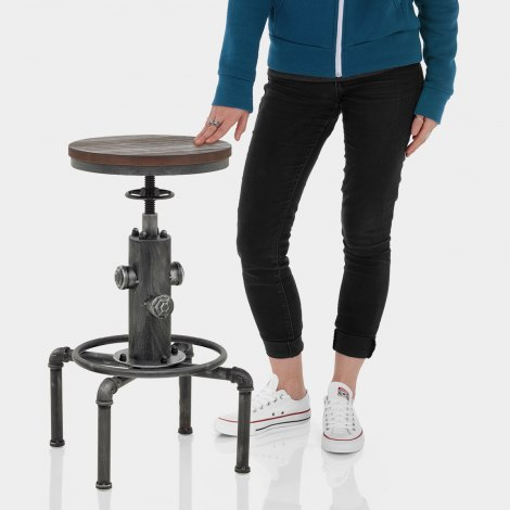 Hydrant Stool Gunmetal Features Image