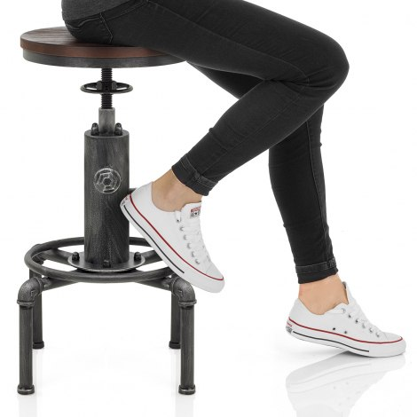 Hydrant Stool Gunmetal Seat Image
