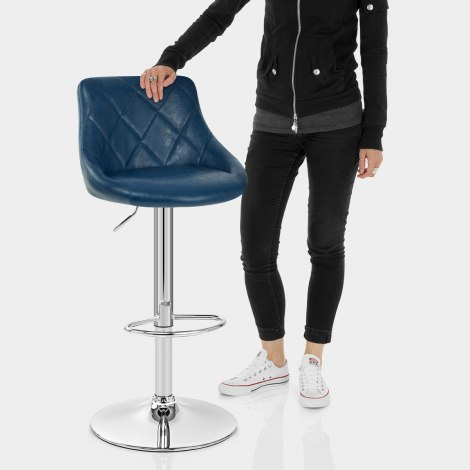 Hype Bar Stool Antique Blue Features Image
