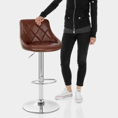 Hype Bar Stool Antique Brown Features Image