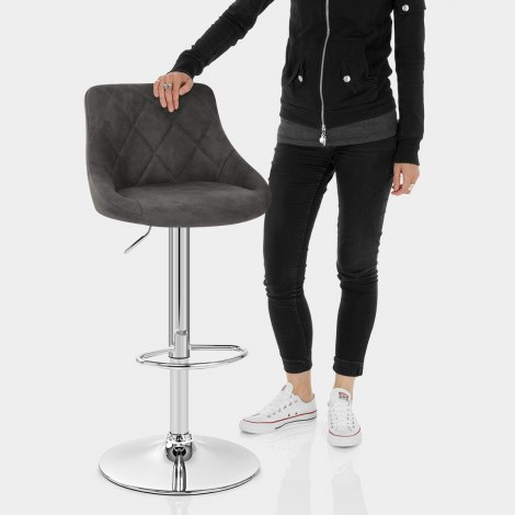 Hype Bar Stool Charcoal Features Image