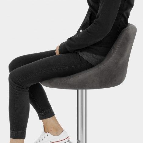 Hype Bar Stool Charcoal Seat Image