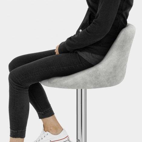 Hype Bar Stool Light Grey Seat Image