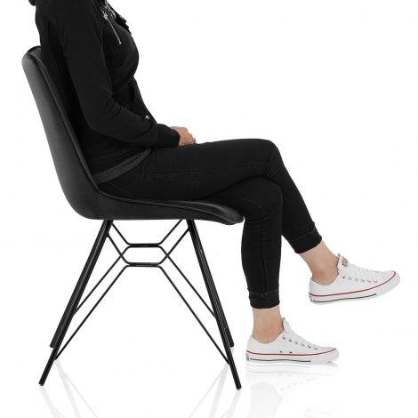 Indi Dining Chair Black Velvet Frame Image