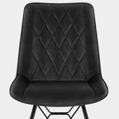 Indi Dining Chair Black Velvet Seat Image
