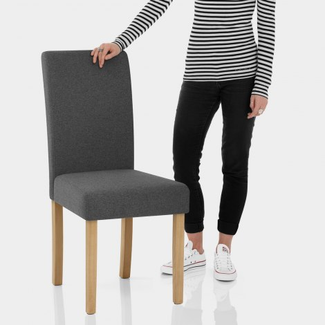 Jackson Dining Chair Charcoal Fabric Features Image