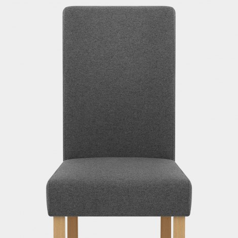Jackson Dining Chair Charcoal Fabric Seat Image