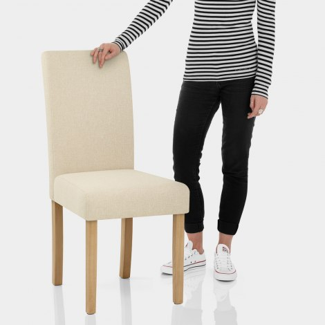 Jackson Dining Chair Cream Fabric Features Image