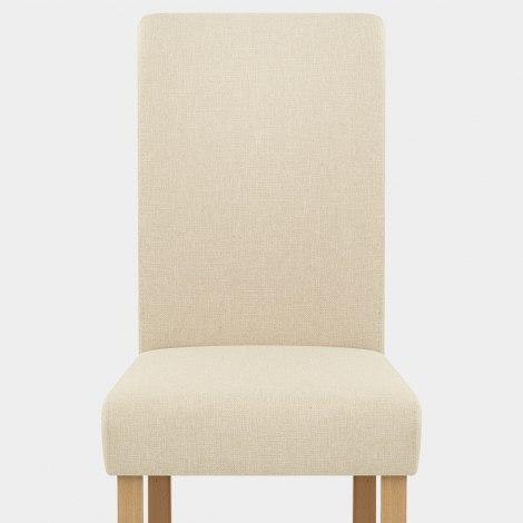 Jackson Dining Chair Cream Fabric Seat Image