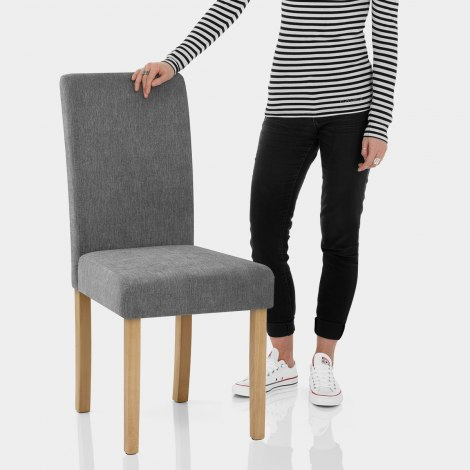 Jackson Dining Chair Grey Fabric Features Image