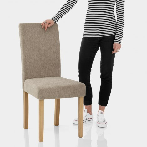 Jackson Dining Chair Mink Fabric Features Image
