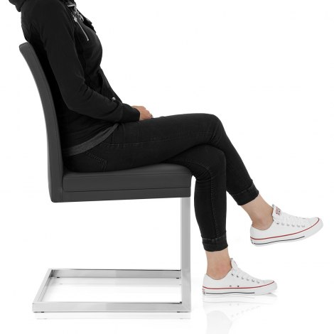Jade Dining Chair Black Seat Image