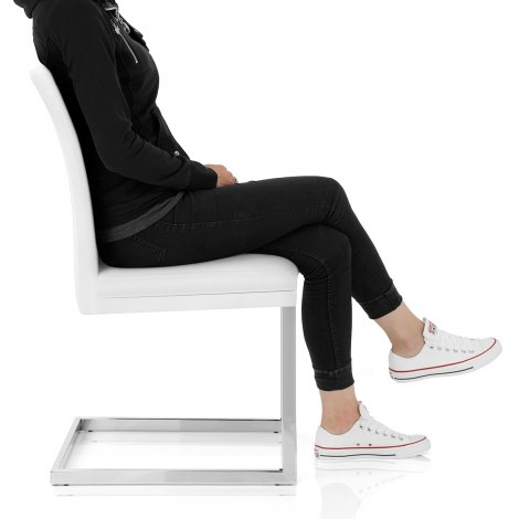 Jade Dining Chair White Seat Image