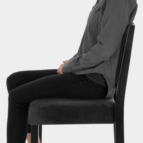 Jasper Black Stool Black Velvet Seat Image