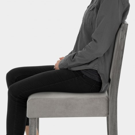 Jasper Grey Stool Grey Velvet Seat Image