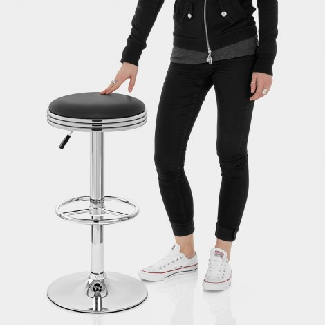 Java Diner Stool Black Features Image