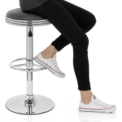Java Bar Stool Grey Seat Image
