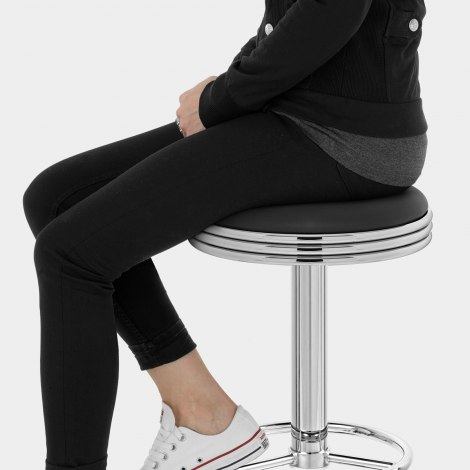 Java Diner Stool Black Seat Image