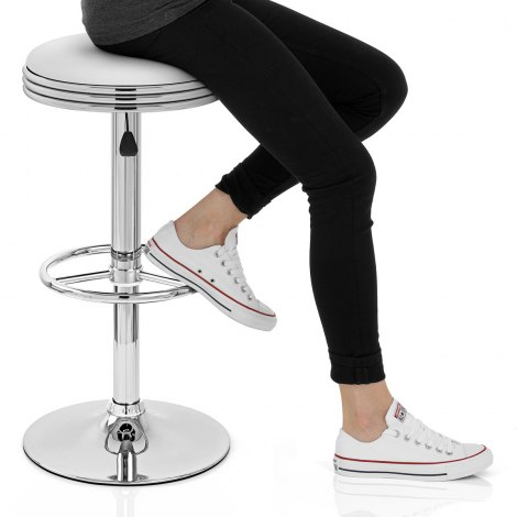 Java Bar Stool White Seat Image