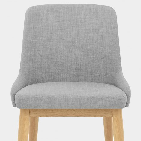 Jersey Dining Chair Oak & Light Grey Seat Image