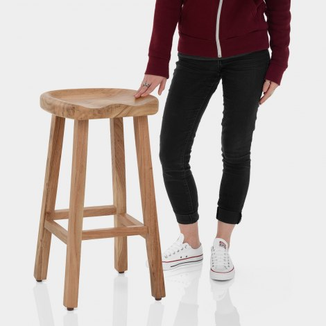 Jin Wooden Stool Features Image
