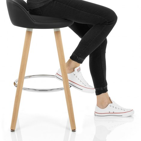 Jive Wooden Stool Black Seat Image