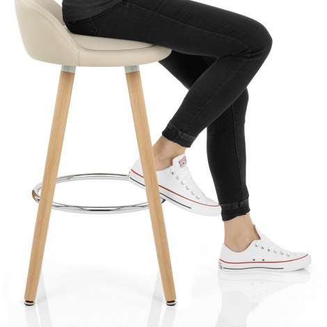 Jive Wooden Stool Cream Seat Image