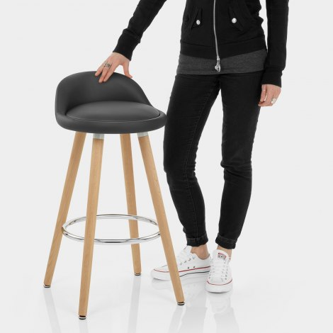 Jive Wooden Stool Grey Features Image
