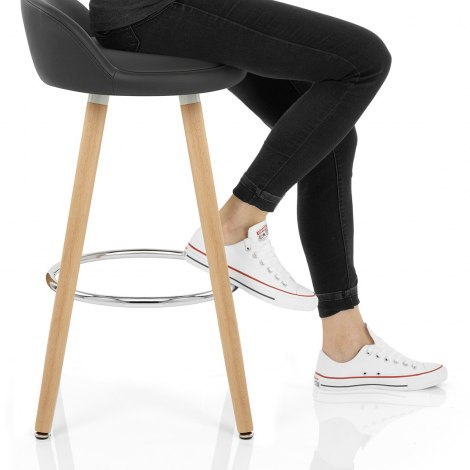 Jive Wooden Stool Grey Seat Image