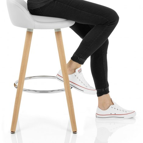 Jive Wooden Stool White Seat Image