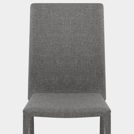 Joshua Dining Chair Light Grey Fabric Seat Image
