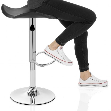 Jupiter Black Bar Stool Seat Image