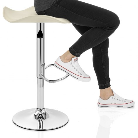 Jupiter Cream Bar Stool Seat Image