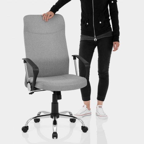 Kansas Office Chair Grey Fabric Features Image