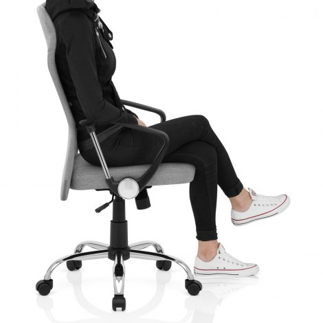 Kansas Office Chair Grey Fabric Seat Image