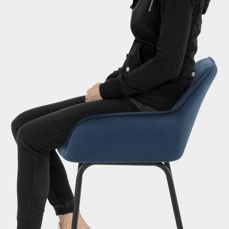 Kanto Bar Stool Blue Velvet Seat Image