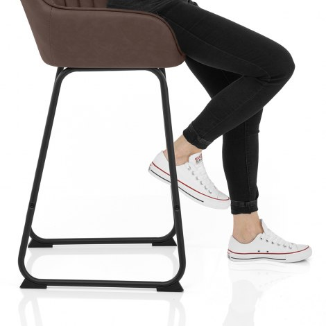 Kanto Bar Stool Brown Frame Image