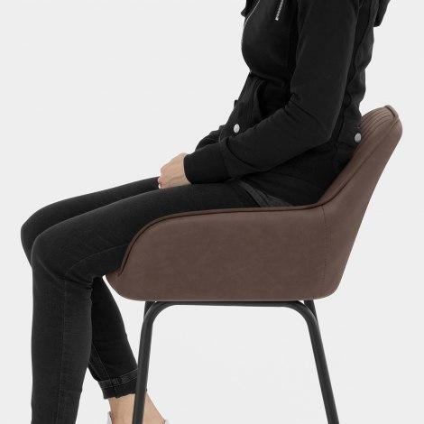 Kanto Bar Stool Brown Seat Image