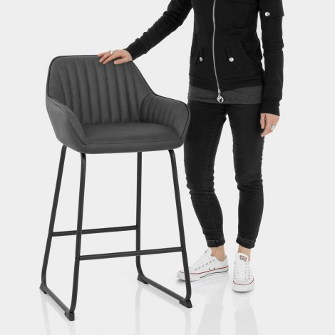 Kanto Bar Stool Charcoal Features Image