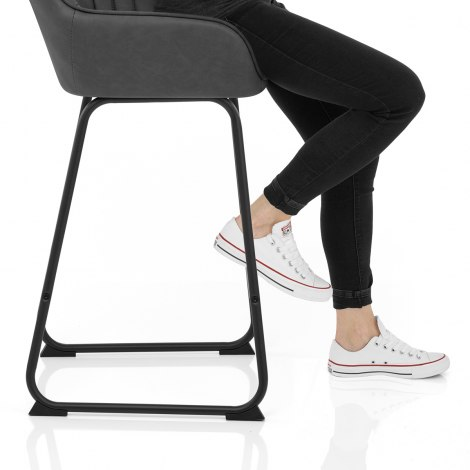 Kanto Bar Stool Charcoal Seat Image