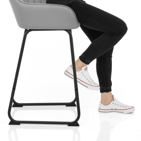 Kanto Bar Stool Light Grey Seat Image