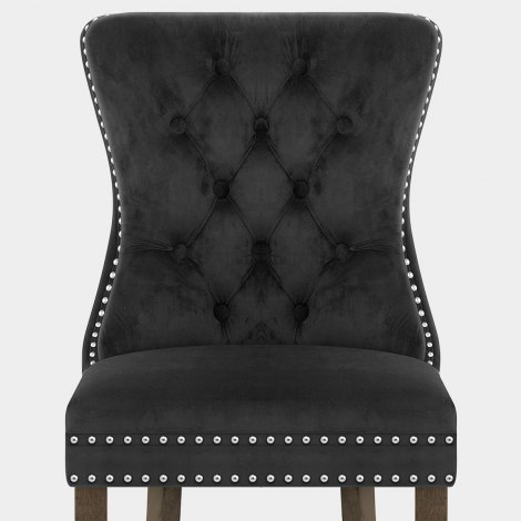 Kensington Dining Chair Black Velvet Seat Image