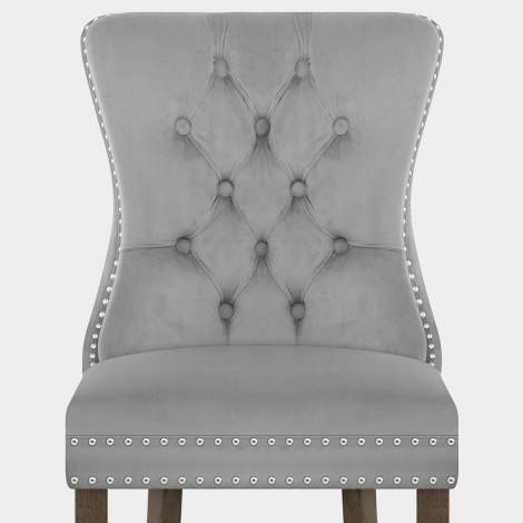 Kensington Dining Chair Grey Velvet Seat Image