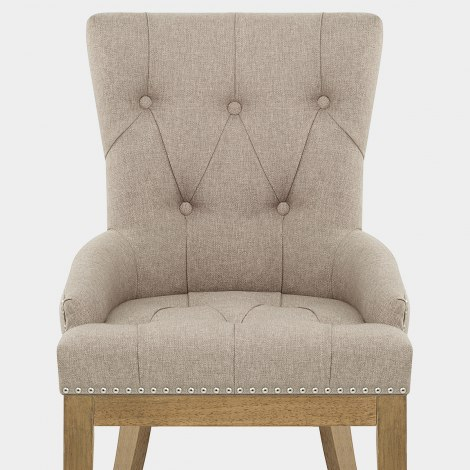 Knightsbridge Oak Chair Tweed Fabric Seat Image