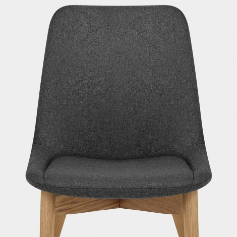 Kobe Dining Chair Oak & Charcoal Seat Image