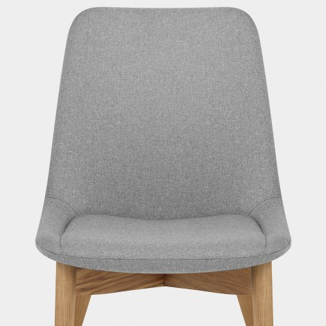 Kobe Dining Chair Oak & Light Grey Seat Image