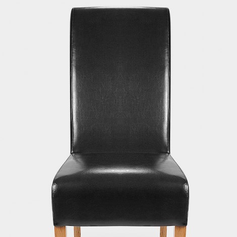 Krista Dining Chair Black Leather Seat Image