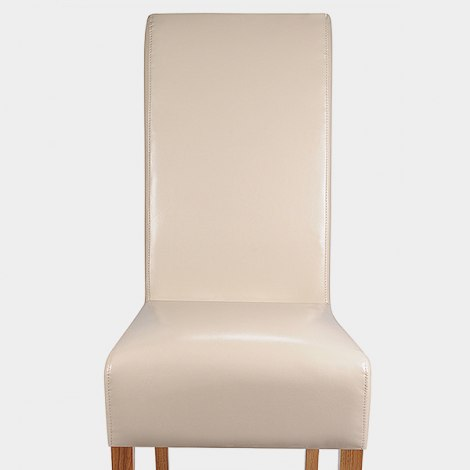 Krista Dining Chair Cream Leather Seat Image